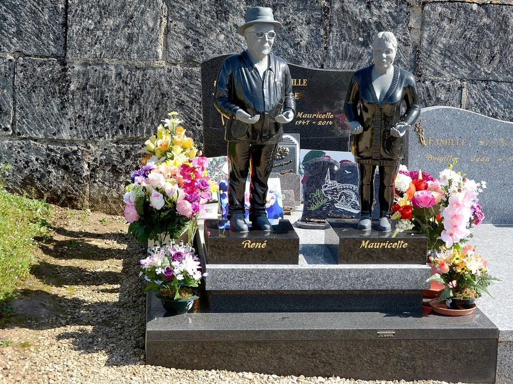 Double tombeau personnalisé