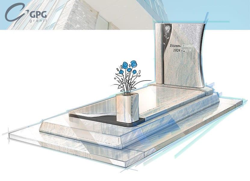 Illustration •Monument funéraire contemporain : zoom sur le GPG 436