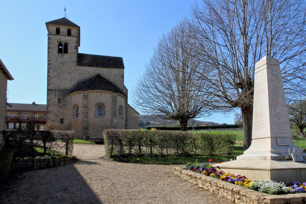 Monument aux morts à Sologny