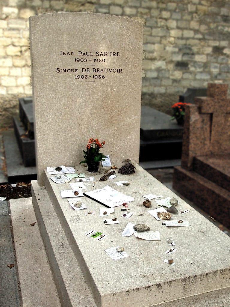 Monument funéraire double Sartre - De Beauvoir