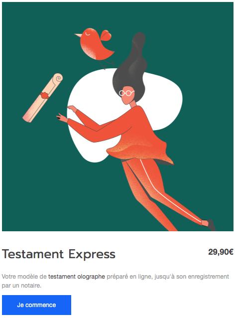 Testamento, rédiger son testament en ligne