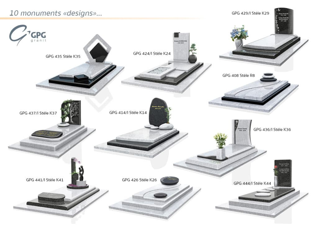 Top 10 de nos monuments funéraires design GPG Granit