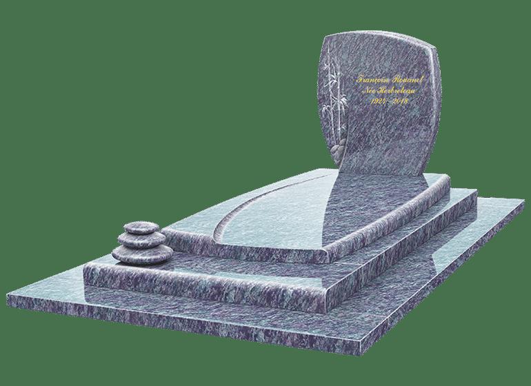 Illustration •5 monuments funéraires classiques et intemporels