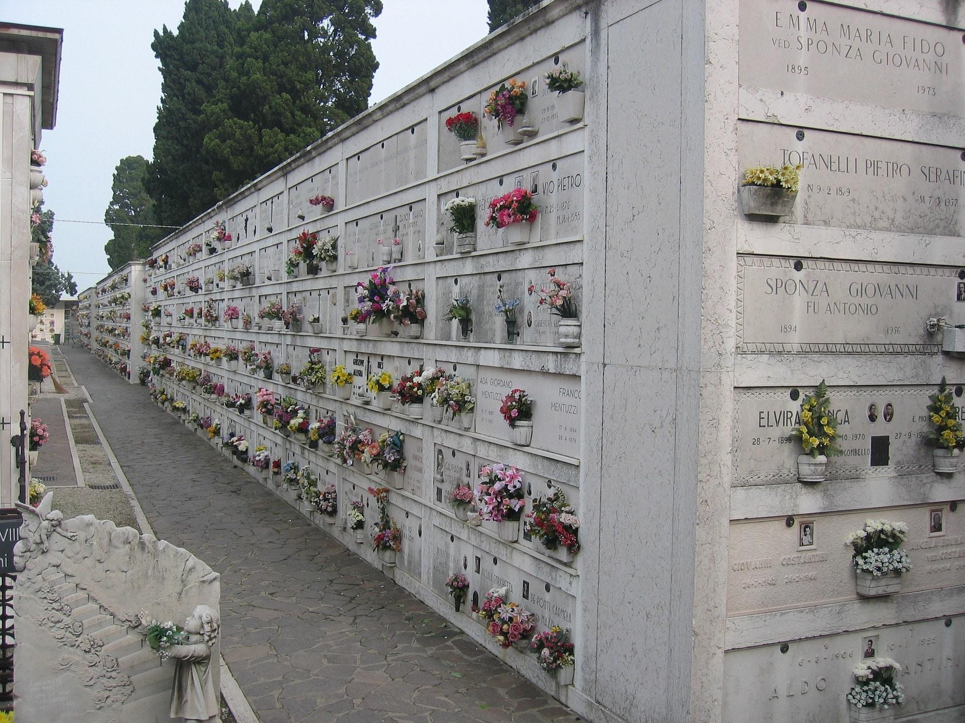 Les fameux murs du cimetière de Venise