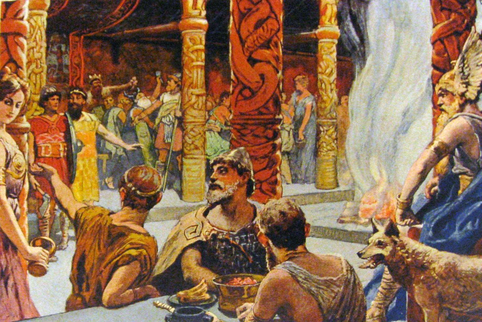 Le Valhalla, l'un des royaumes des morts chez les vikings