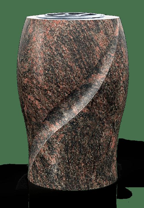 Vase en granit pour tombe