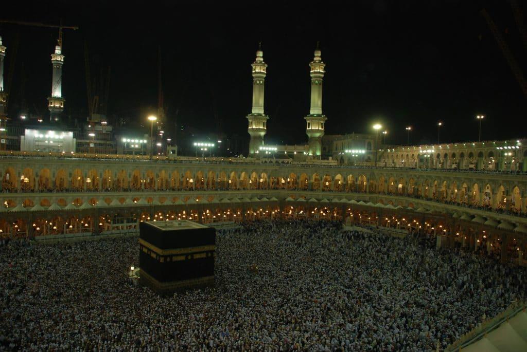La Mecque, vers laquelle doivent être orientés les corps dans les monuments funéraires musulmans