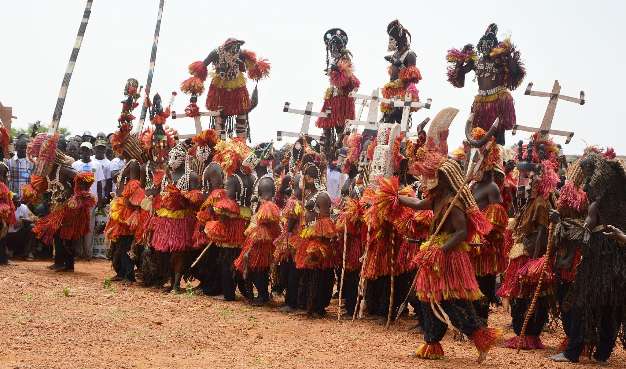 Dama, danse des masques chez les Dogons comme rite funéraire