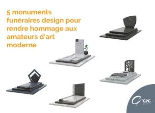 Illustration •5 monuments funéraires design pour rendre hommage aux amateurs d'art moderne