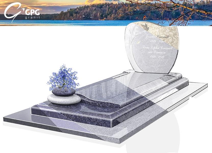 Illustration •Zoom sur un monument funéraire doux et rassurant : le GPG 288/W