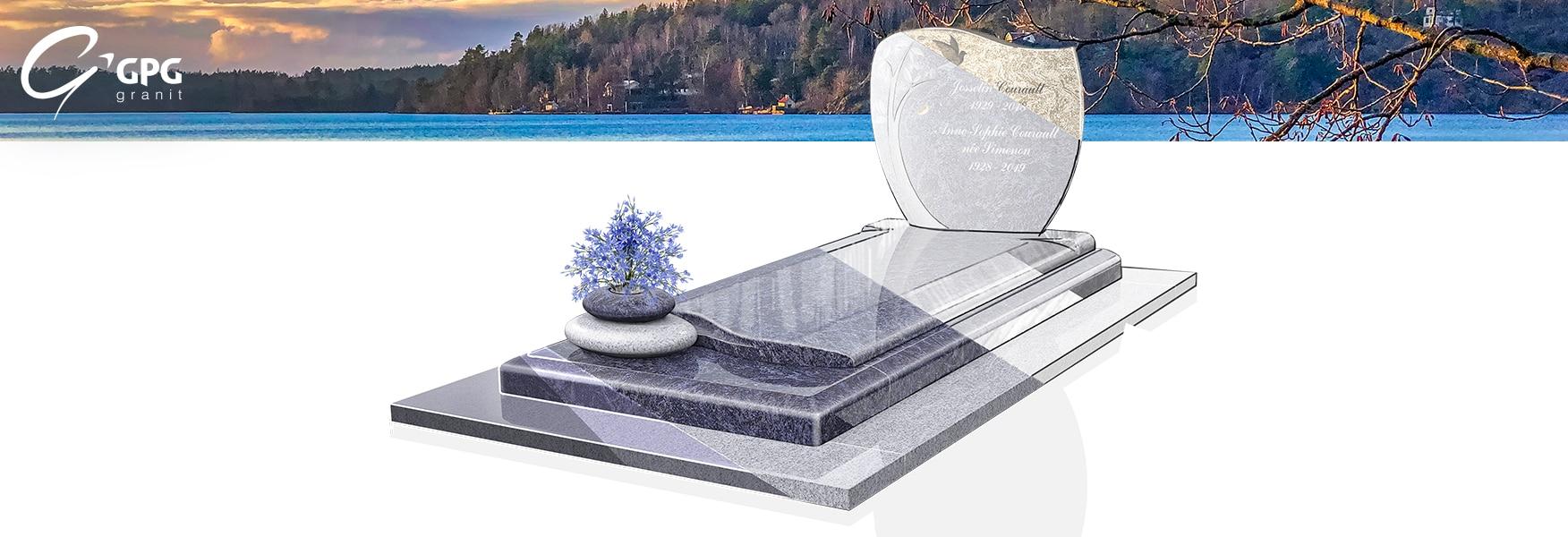 Monument funéraire doux et rassurant GPG 288