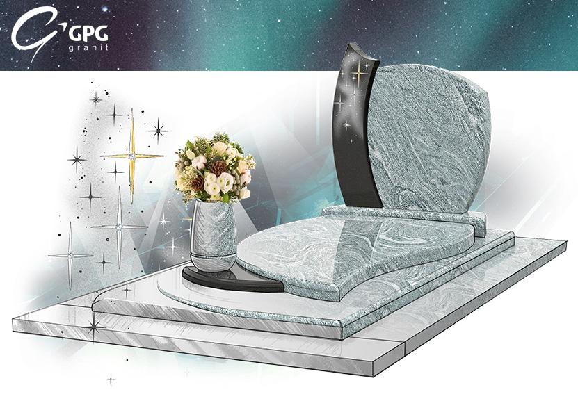 Illustration •Zoom sur un monument funéraire tout en galbes : le GPG 228 R28