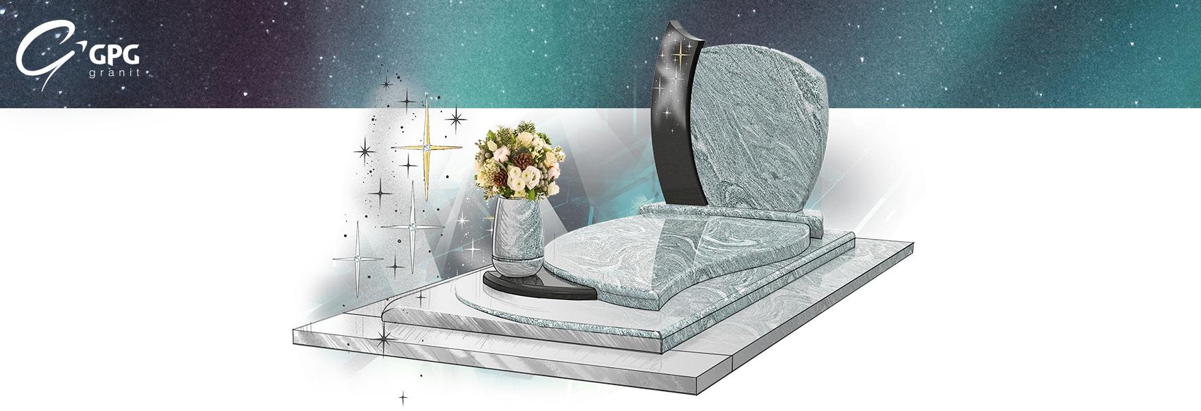 Monument funéraire tout en galbes