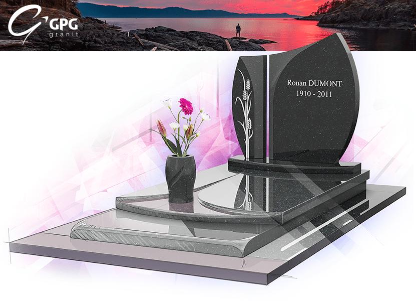 Illustration •Zoom sur un monument funéraire cisaillé : le GPG 211 R11