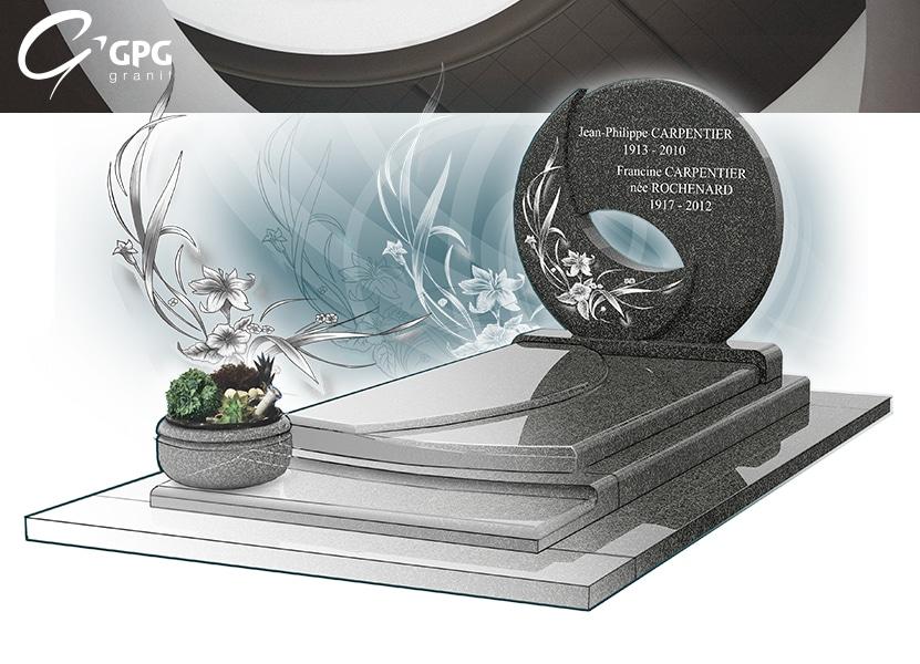 Illustration •Zoom sur un monument funéraire tout en cercle : le GPG 246 R46