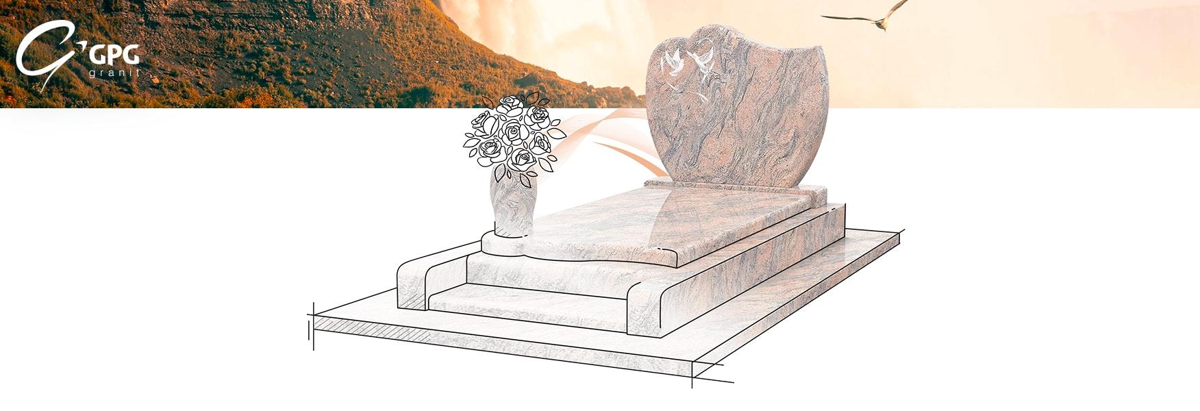 Présentation du monument funéraire inspiration romantique GPG 232