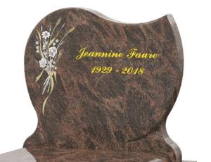 Motif de gravure sur pierre tombale GPG 160