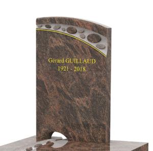 Motif de gravure sur pierre tombale GPG 233