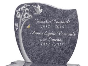 Gravure sur pierre tombale GPG 288