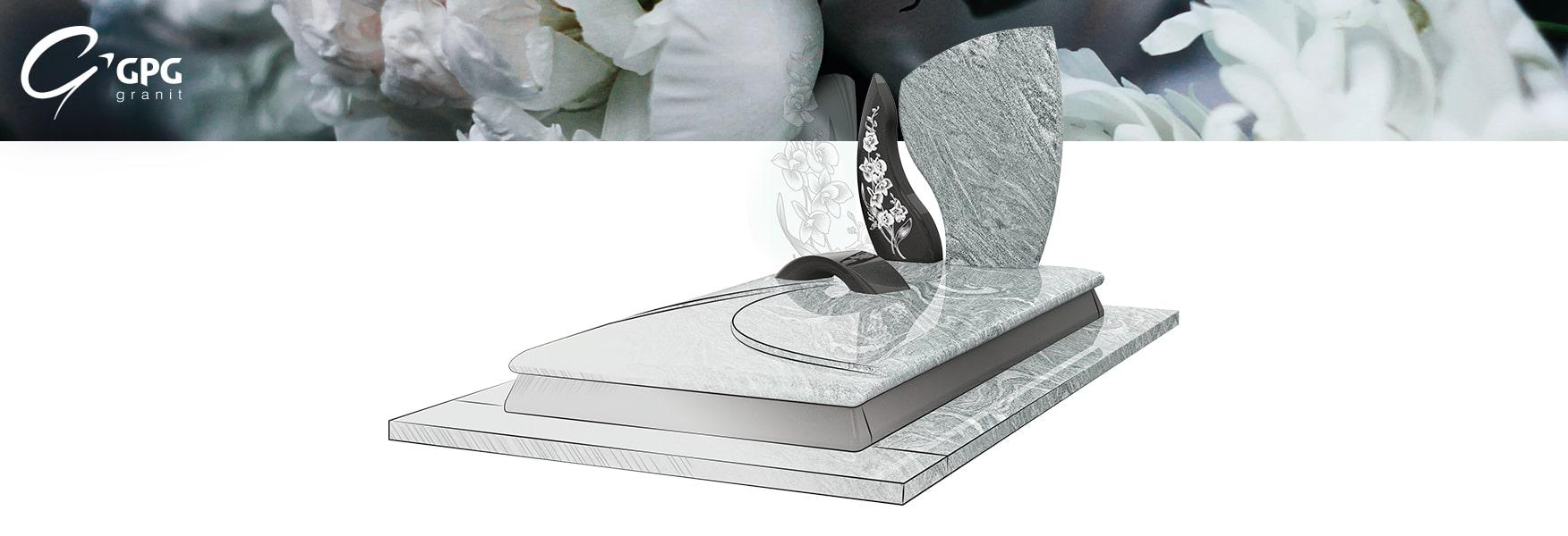 Un monument funéraire tout en ondulation
