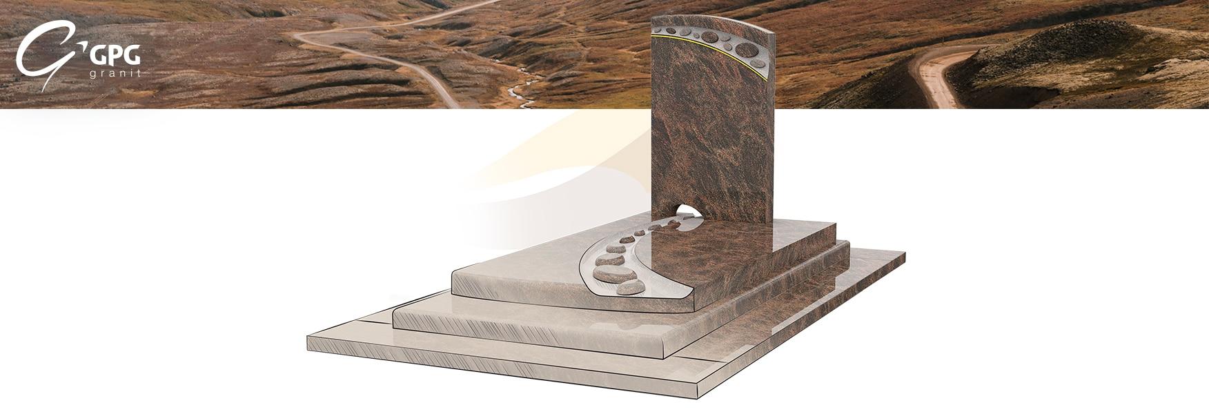 Zoom sur un monument funéraire à la croisée des chemins