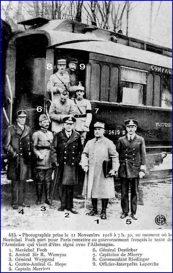 Signature Armistice, 11 novembre 1918