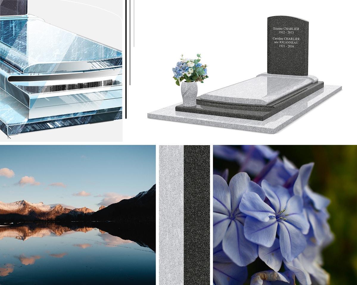 Les détails et personnalisations de ce monument funéraire en granit