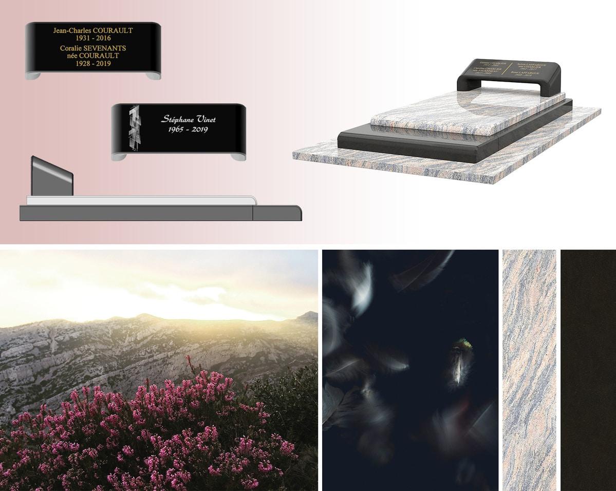 Les inspirations de ce monument funéraire esthétique