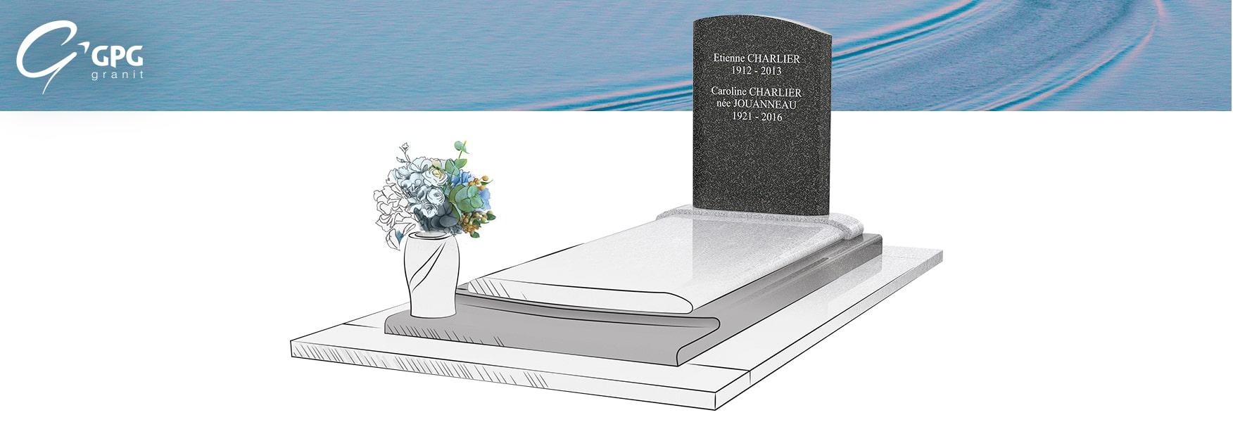 Le monument funéraire en Granit Viscont White GPG 429/I