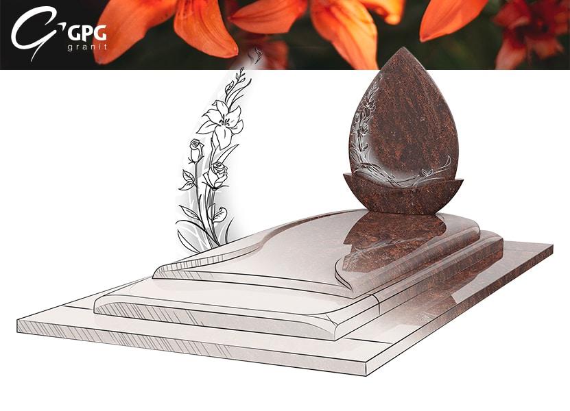 Illustration •Focus sur le monument funéraire GPG 291 Granit Salina