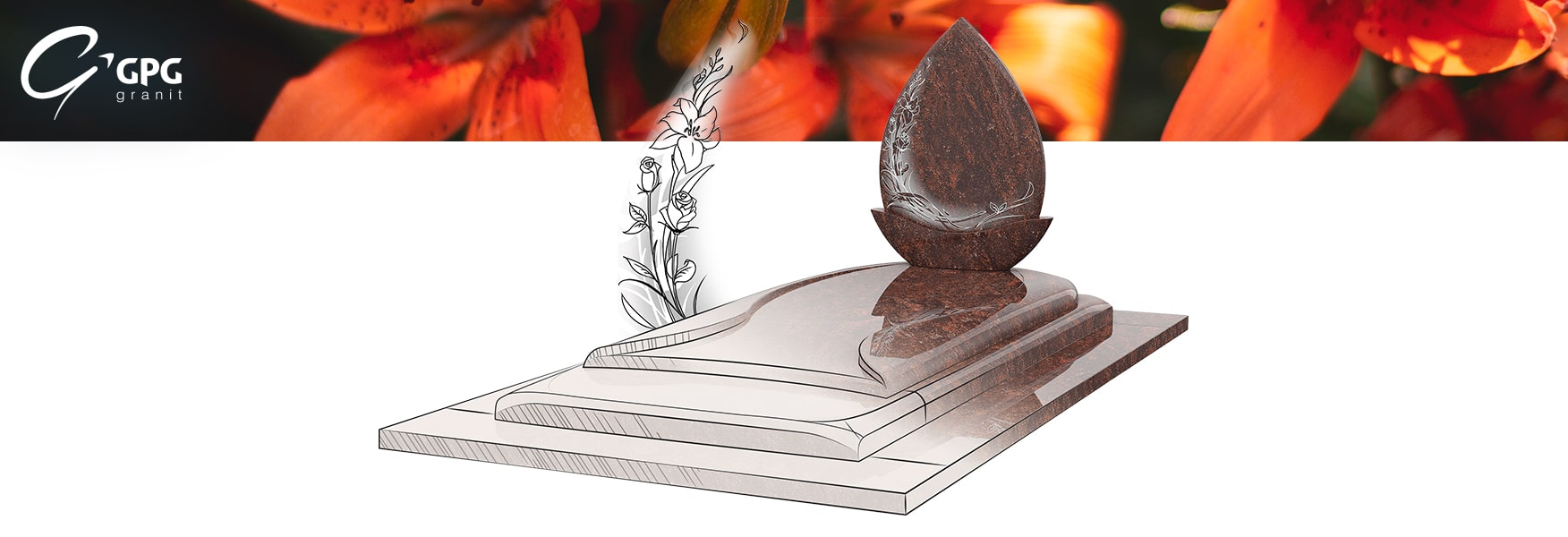 Monument funéraire GPG 291 en granit Salina