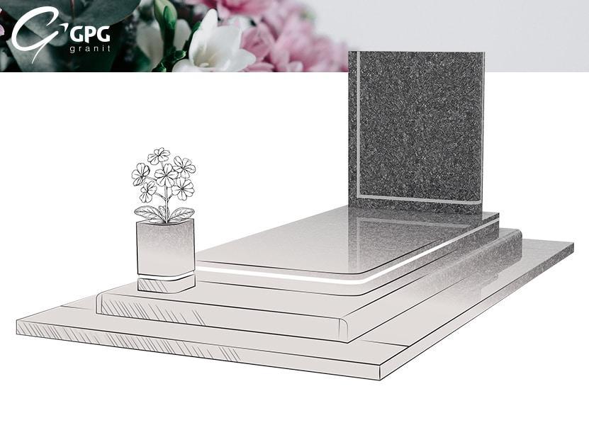 Illustration •Zoom sur le monument funéraire GPG 279/S Steel Grey