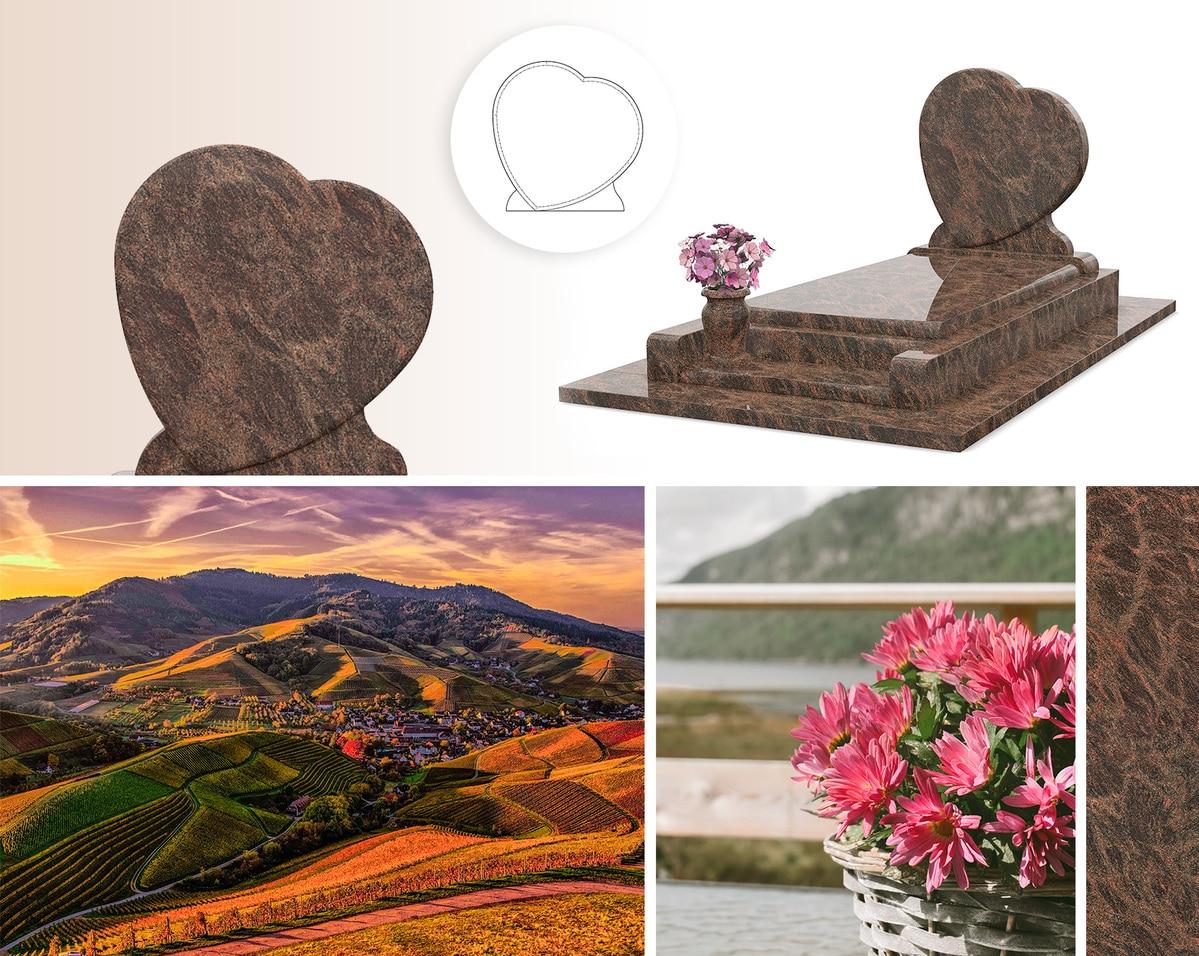 Une sépulture qui nous propose plusieurs styles, avec chaleur et douceur