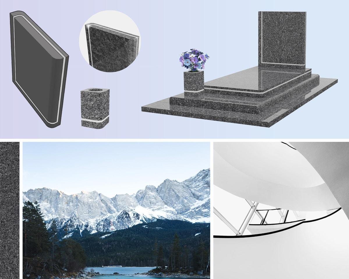Un monument funéraire pur, avec un esthétisme contemporain et un granit unique