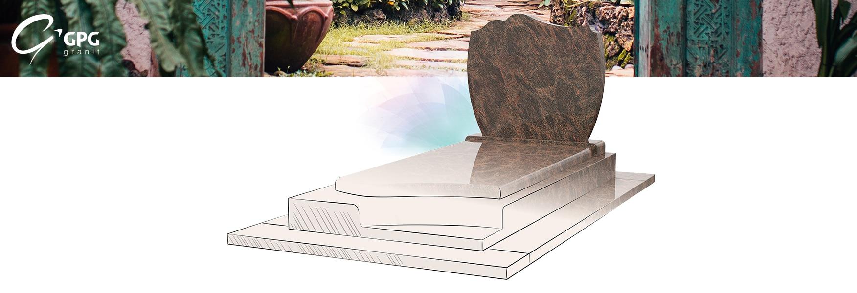 Monument funéraire GPG 002, une sépulture moderne en granit