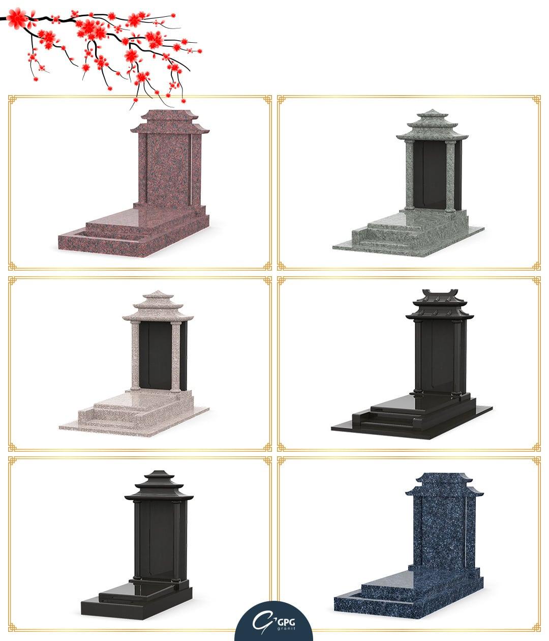 Monuments funéraires asiatiques que propose GPG Granit