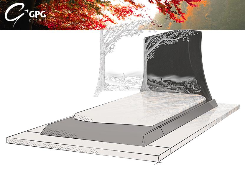 Illustration •Zoom sur le monument funéraire GPG 295/N