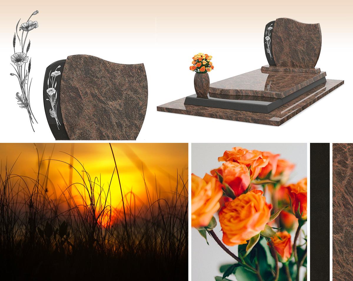 Des fleurs et une sépulture qui peut être personnalisée sur-mesure