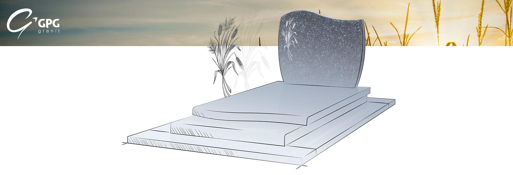 Courbes associées à des lignes droites pour cette sépulture classique