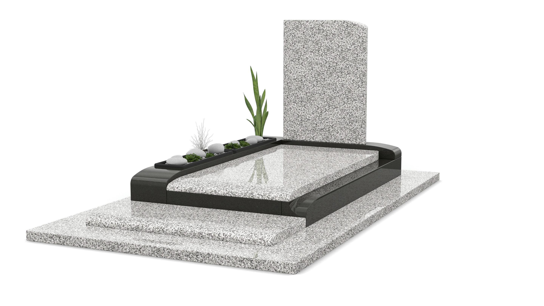 Monument funéraire en granit Blanc Cervin