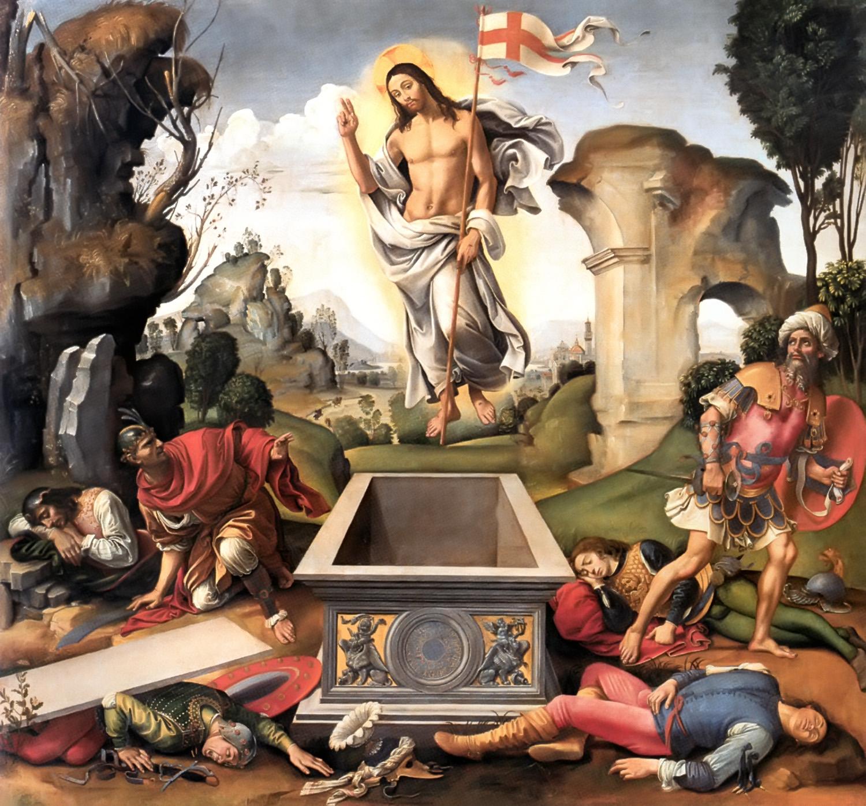 La résurrection de Jésus, tableau de Raffaelo