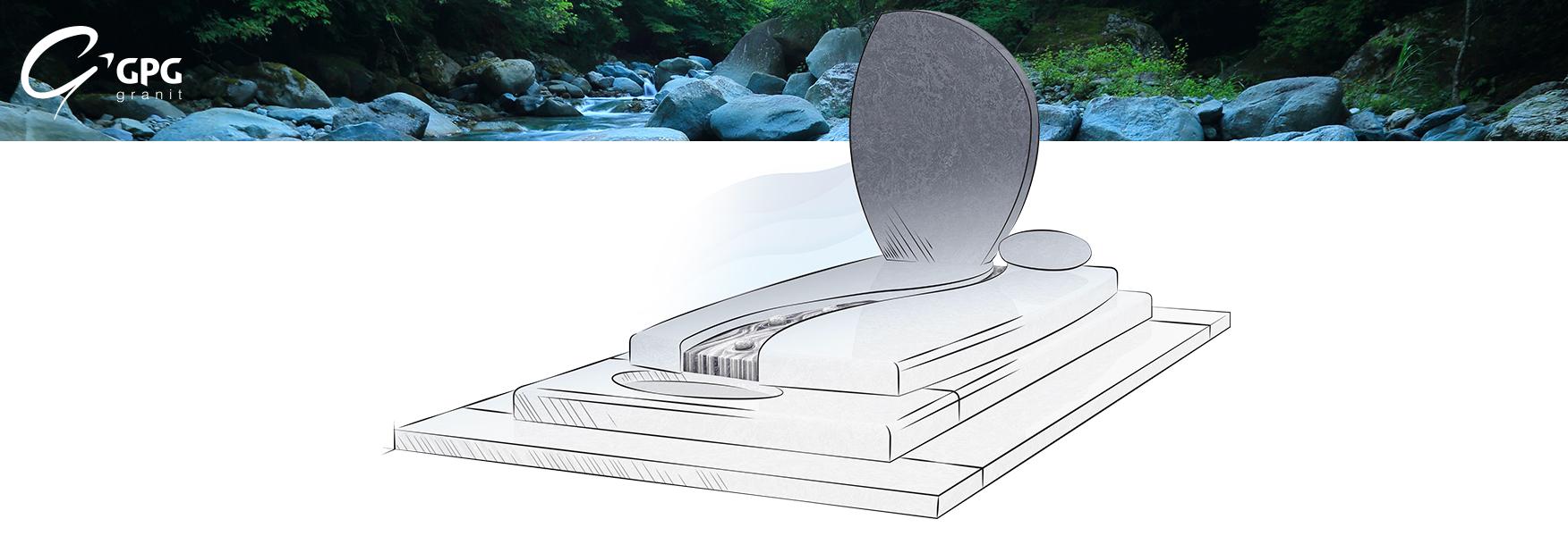 Monument funéraire moderne GPG 250 personnalisable