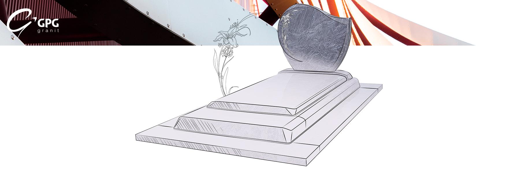Monument funéraire en granit GPG 297, moderne et sur-mesure