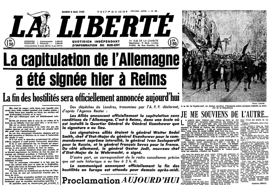 CapitulationAllemagne Seconde Guerre mondiale, 8 mai
